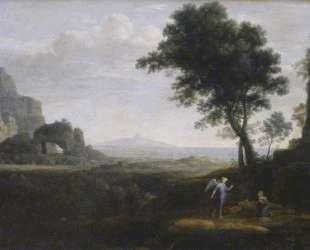 Hagar and Ismael in the desert — Клод Лоррен