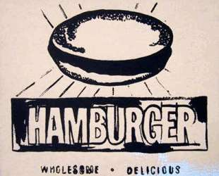 Hamburger (beige) — Энди Уорхол
