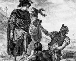 Гамлет и Горацио перед гробокопателями — Эжен Делакруа