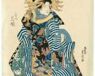 Hanamurasaki of theTamaya — Утагава Садатора