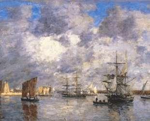 Harbour at Camaret — Эжен Буден