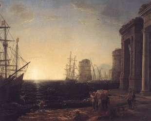 Harbour Scene at Sunset — Клод Лоррен