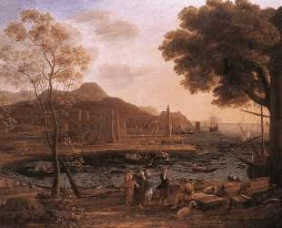 Harbour Scene with Grieving Heliades — Клод Лоррен