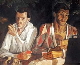 Harlequin and Pierrot, double self-portrait — Сергей Судейкин