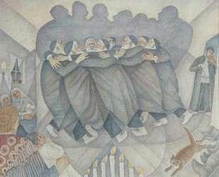 Hasidic dance during the celebration of Hanukkah — Маревна