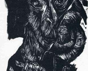 Head of a Sick Man. Self-Portrait — Эрнст Людвиг Кирхнер