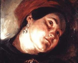 Голова женщины в красном тюрбане — Эжен Делакруа