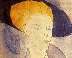 Голова женщины в шляпе — Амедео Модильяни