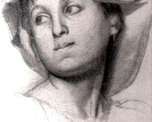 Голова римской девушки — Эдгар Дега