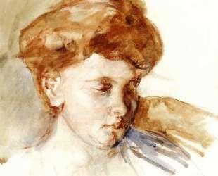 Голова молодой женщины — Мэри Кассат
