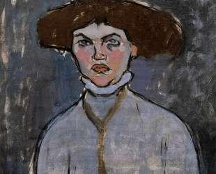 Голова молодой женщины — Амедео Модильяни