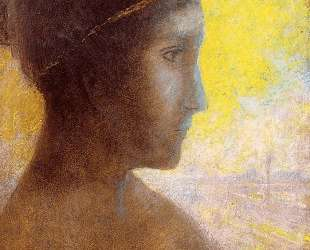 Head of a Young Woman in Profile — Одилон Редон