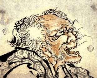 Head of an old man — Кацусика Хокусай