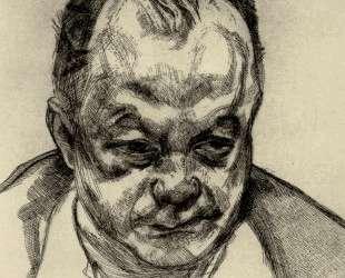 Голова Брюса Бернарда — Люсьен Фрейд