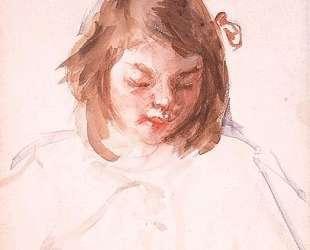 Голова Франсуазы, смотрящей вниз (№4) — Мэри Кассат