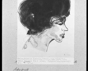 Head of spanish woman — Эмиль Нольде
