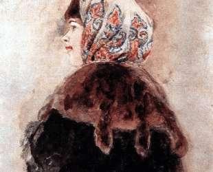 Head of young lady — Василий Суриков