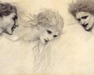 Этюды головы к маске Купидона — Эдвард Бёрн-Джонс