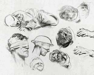 Heads, Hands, and Figure (also known as Studies for Gassed) — Джон Сингер Сарджент