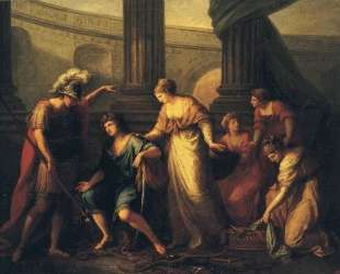 Hector Calls Paris to the Battle — Ангелика Кауфман