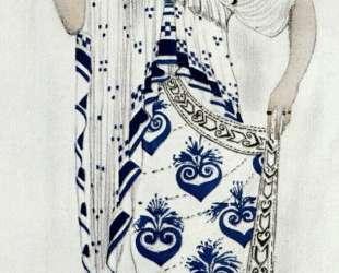 Эскиз костюма для Иды Рубинштейн в роли Елены в трагедии «Елена в Спарте» — Леон Бакст