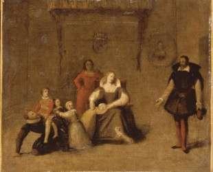 Генрих IV играет со своими детьми — Жан Огюст Доминик Энгр