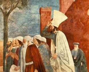 Ираклий возвращает крест в Иерусалим — Пьеро делла Франческа