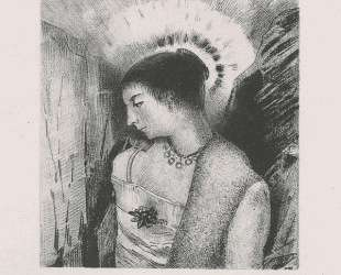 Here is the Good Goddess, the Idaean mother of the mountains (plate 15) — Одилон Редон