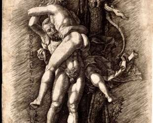 Hercules and Antaeus — Андреа Мантенья