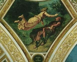 Гесиод и Муза — Эжен Делакруа