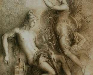 Hesiod and the Muse — Гюстав Моро