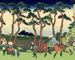 Hodogaya on the Tokaido — Кацусика Хокусай