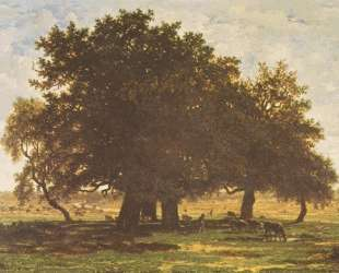 Holm Oaks, Apremont — Теодор Руссо