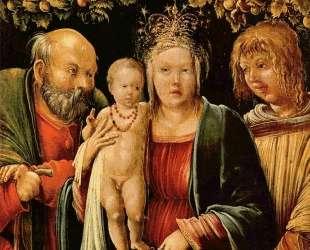 Святое семейство с ангелом — Альбрехт Альтдорфер