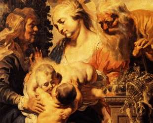 Holy Family with Elizabeth and Child John the Baptist — Якоб Йорданс