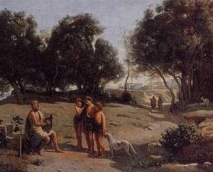 Гомер и пастухи в пейзаже — Камиль Коро