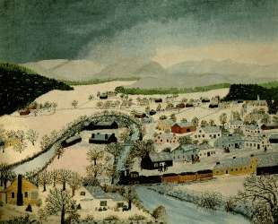 Hoosick Falls, New York, in Winter — Бабушка Мозес