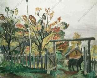 Лошадь у ворот — Пётр Кончаловский