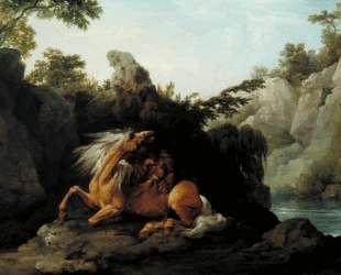 Horse Devoured by a Lion — Джордж Стаббс