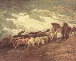 Упряжь лошадей — Оноре Домье