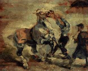 Horse Fighting His Groom — Анри де Тулуз-Лотрек