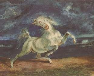 Лошадь, испуганная молнией — Эжен Делакруа