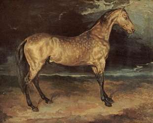 Horse in the storm — Теодор Жерико