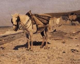 Лошадь для сбора камней в Вёле — Илья Репин