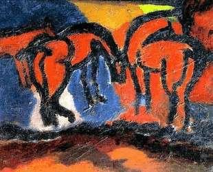 Лошади — Давид Бурлюк