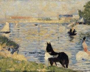 Лошади в воде — Жорж Сёра