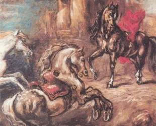 Лошади на бегу — Джорджо де Кирико