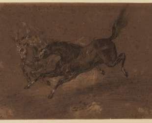 Бегущие лошади — Эжен Делакруа