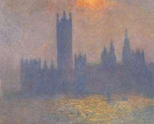 Вестминстерский дворец. Эффект солнечного света в тумане — Клод Моне