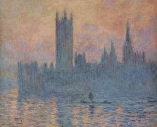 Вестминстерский дворец зимой — Клод Моне